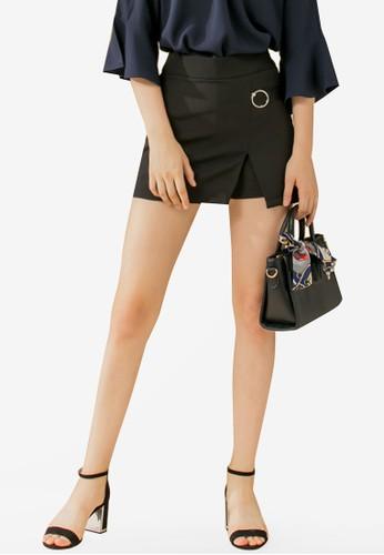 Eyescream black High Slit Mini Skirt 69DDBAAB7B45B0GS_1
