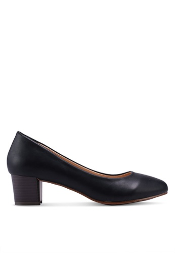 Spiffy black Soft and Comfort Series Ladies Slip-on Heels 8BC6CSH6E1E22AGS_1