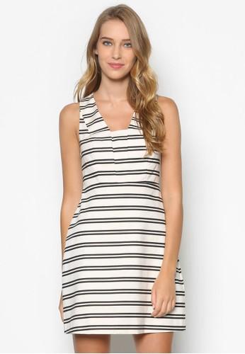 條紋尖沙咀 esprit無袖連身裙, 服飾, 洋裝
