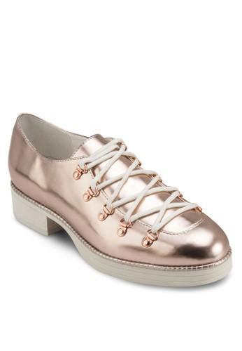 Zaida 亮面布洛zalora 折扣碼克皮鞋, 韓系時尚, 梳妝