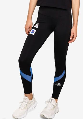 ADIDAS black own the run space race 7/8 run leggings 2C083AAC9588BFGS_1