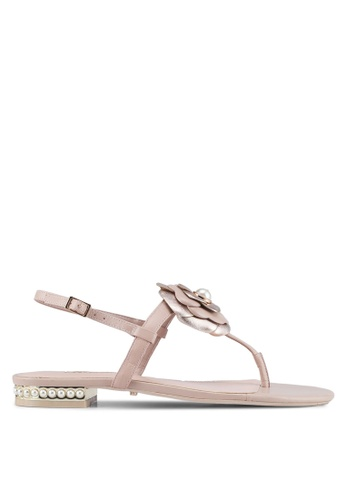 Dune London pink Toe Thong Flower Sandals D591FSH6FE8636GS_1