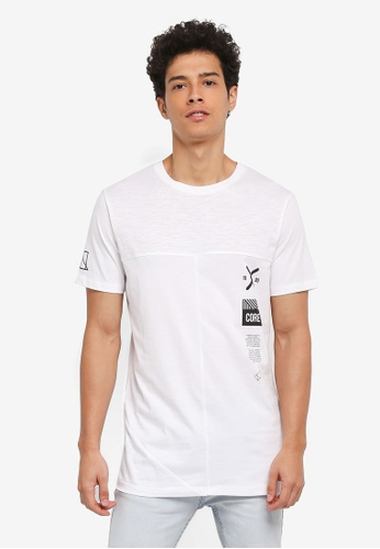 Jack & Jones white Lincoln Tee Crew Neck D5D6DAA4ABC307GS_1