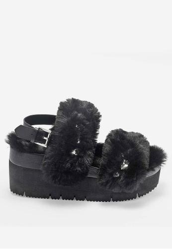 ASH 黑色 Vanity - 黑色鉚釘刺繡涼鞋 E70FESH6694AFDGS_1