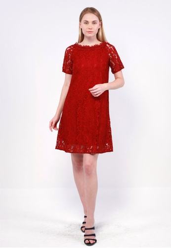 NE Double S NE Double S - Big Round  Neckline Lace Mini Dress D8743AA628FC9DGS_1