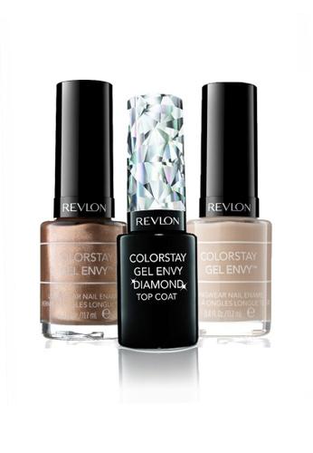 Revlon brown and beige REVLON COLORSTAY GEL ENVY™ LONGWEAR NAIL ENAMEL SET - Gel Diamond Top Coat™+ CHECKMATE + DOUBLE DOWN RE737BE21CXQSG_1