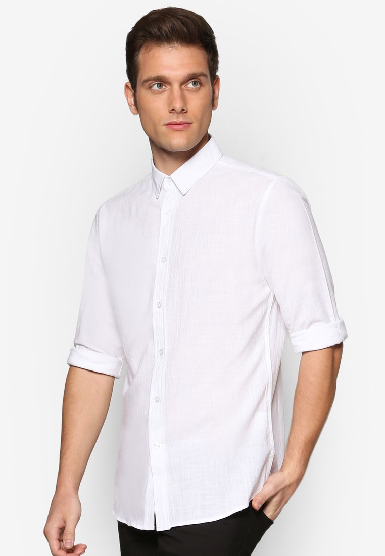 NT - Regular Fit Linen Long Sleeve Shirt