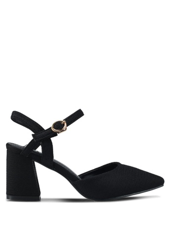 Mimosa black Casual Block Heels 224D8SH2E63DBCGS_1