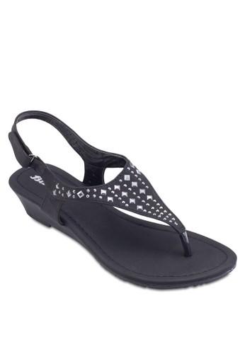 鉚釘繞zalora 心得踝涼鞋, 女鞋, 鞋