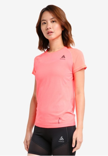 Odlo pink BL Top Crew Neck S/S Ceramicool Motion B90D4AAB7F9021GS_1