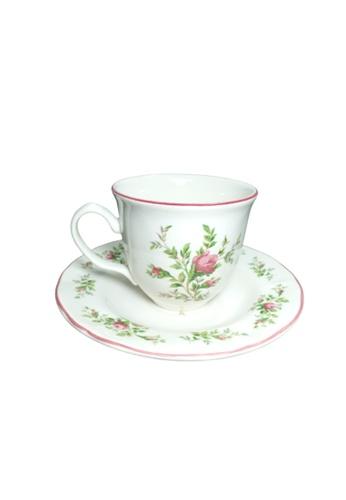 Claytan Moss Rose With Banding - Cup & Saucer D01D9HL45143D4GS_1