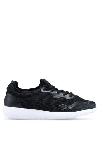 Burton Menswear London black Black Knit Runner Trainers A369DSH34DBEDCGS_1