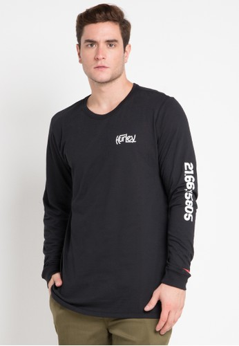hurley black Dri-Fit Parallel Sea Long Sleeve T-Shirt 477D5AA165C5A4GS_1