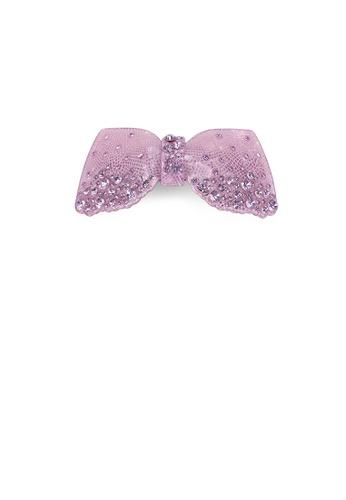 Glamorousky purple Fashion Cute Purple Ribbon Hair Slide with Cubic Zirconia 8699DACFA5E6ABGS_1