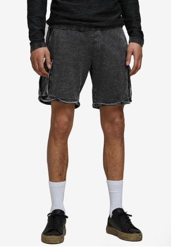 Jack & Jones beige Sweat Cargo Shorts F3E70AA68E2301GS_1