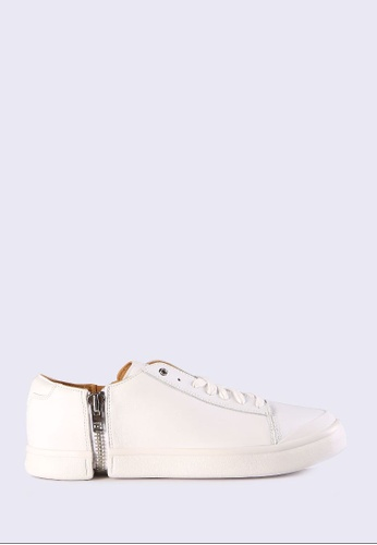 Diesel white S-Nentish Low Sneakers 6AA0FSH00FD156GS_1