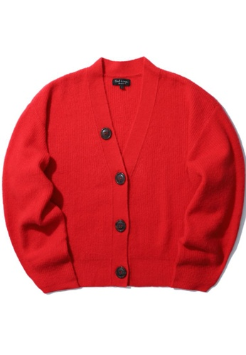 tout à coup red Oversized cardigan B9C46AACF62071GS_1