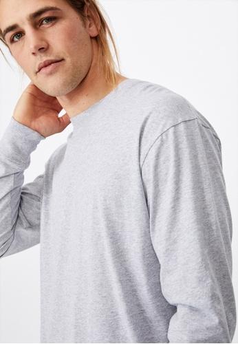 Cotton On grey Tbar Long Sleeve T-Shirt AA6F8AA344ECB3GS_1