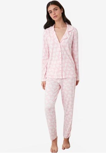 Trendyol pink Powder Knit Pajama Set A0F50AA076113AGS_1