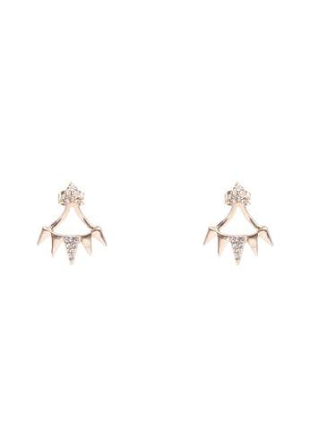 三角形閃飾耳環, 飾品配zalora 泳衣件, 飾品配件