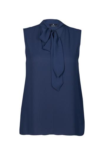 Auden Cavill 海軍藍色 Auden Cavill Women Plain Blouse With Collar Details 81443AACA2F66DGS_1