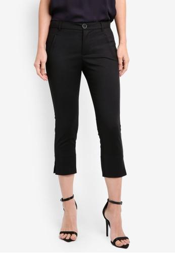 Mango black Crop Slim-Fit Trousers MA193AA0T1KWMY_1