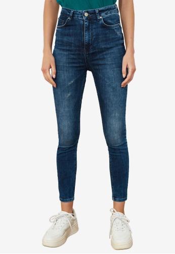 Trendyol navy High Waist Skinny Jeans 5FAD5AA869100FGS_1