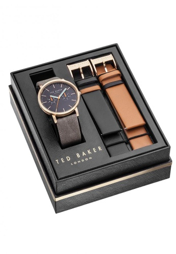 1e68e2dc34b33 TED BAKER black and grey and brown Ted Baker JEROME Watch Box Set -  10031560 TE856AC64KOXSG 1