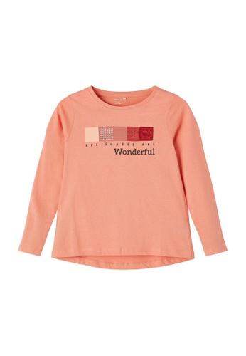 NAME IT orange Nemli Long Sleeves T-Shirt B05C7KAE427ADCGS_1
