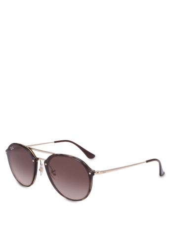 Ray-Ban brown Blaze Doublebridge RB4292N Polarized Sunnies RA896GL0RZ5DMY_1