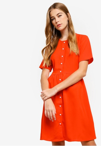 Something Borrowed orange Button Down Dress C47A3AA64BC317GS_1