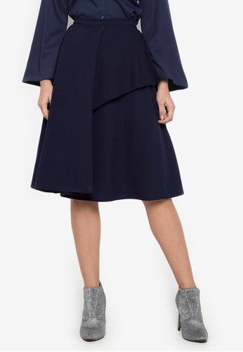 TM navy Coco Midi Skirt DECACAA8D1F460GS_1