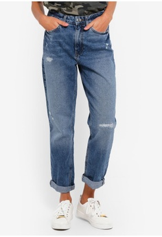 f042b89ce55caf River Island blue Mom Ripped Denim Jeans 3A4DEAAD17A49BGS_1