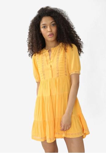 PIMKIE orange Short Guipure Dress FAA78AAED2F296GS_1