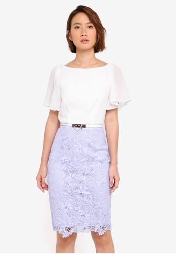 Paper Dolls multi Chiffon Sleeve Detail Crochet 2 In 1 Dress With Belt 9729AAA5950DC7GS_1