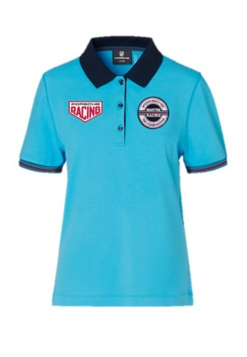 Porsche Driver's Selection blue Women's Blue Polo Tee Shirt for Ladies Porsche Martini Racing Women Polo T Shirt Light Blue B44ADAA38C1004GS_1