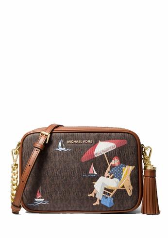 MICHAEL KORS brown MICHAEL Michael Kors Ginny Medium Jet Set Girls Crossbody Bag 994E2AC6C47441GS_1