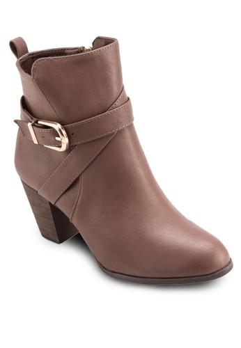 扣環帶高跟短靴,esprit outlet 桃園 女鞋, 靴子