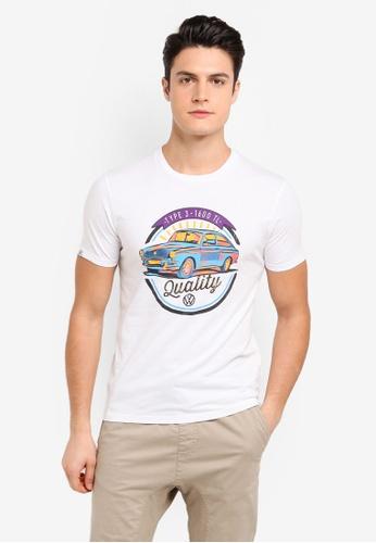 Volkswagen 白色 短袖印花T恤 45559AA1E81BA8GS_1
