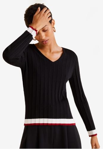 MANGO black Contrast-Edge Sweater 8ABB3AAA5E8ED3GS_1