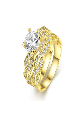 Sopistikada gold Tower Ring 18K Plated Ring SO776AC0J618PH_1