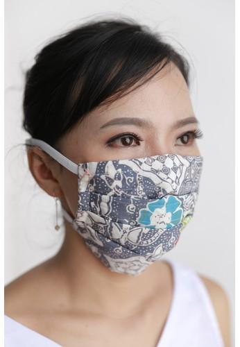 DhieVine Batik grey Assorted Batik Cotton Mask Abu Kembang Head-Loop (3PCS) 9E6D8ES560A8E2GS_1