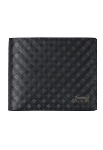 Picard black Picard Checker Men's Leather Flap Wallet DE71BAC63DA07CGS_1