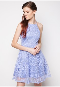 Halter Full Lace Dress
