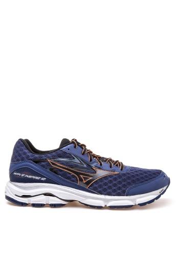 Mizuno blue Wave Inspire 12 Running Shoes MI197SH45CMCPH_1