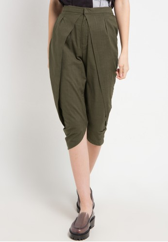 Ninety Degrees green Clove Pants F7FA6AA111240AGS_1