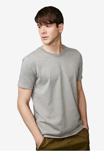 金緻復刻esprit 香港。重磅430克。純棉圓領T-MIT-03470-淺麻灰, 服飾, 素色T恤