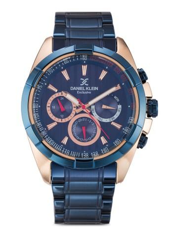 46mm DK111zalora 心得79-2 三顯示不銹鋼接鏈圓錶, 錶類, 飾品配件