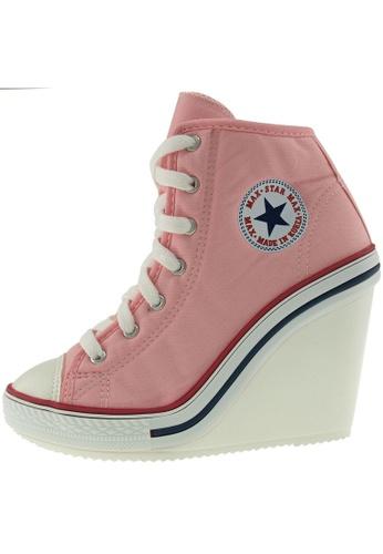 Maxstar 粉紅色 新款韩国鞋777-SZ時尚帆布布混合女粉紅色 US Women Size MA345SH35GVSTW_1
