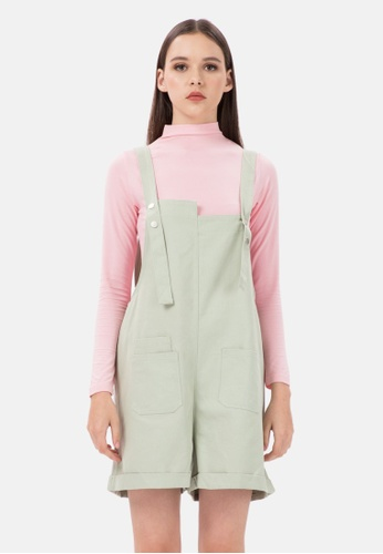 MKY Clothing green MKY Snap Button Pastel Colour Overall in Green ECFDFAA17513F9GS_1